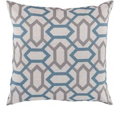 Decorative St.Mawes 18-inch Trellis Pillow Cover   Overstock.com Shopping - The Best Deals on Throw Pillows