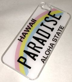 Hawaii Paradise Aloha State Rainbow License Plate