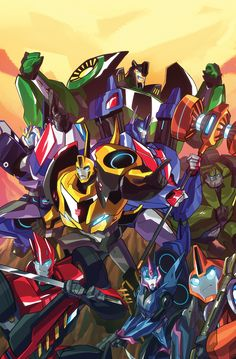 Robots in Disguise #4 cover Go get'em, Fixit!