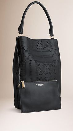 #Burberry The  #Bucket #Bag in perforated #Leather