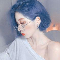 Ulzzang girl theme icon , heart if you liked or used ♡ Ulzzang Short Hair, Ulzzang Girl, Ulzzang Hairstyle, Hair Inspo, Hair Inspiration, Korean Beauty Girls, Hair Streaks, Aesthetic Hair, Dye My Hair