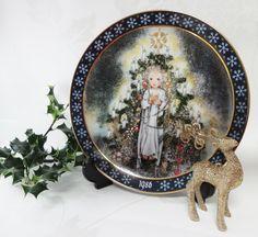 The Christ Child Sulamith Wulfing Konigszelt Ceramic Wall Art Bayern Bavarian Porcelain December 1986 Issue Christmas Wall Art by BelieveToBeBeautiful on Etsy