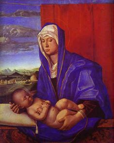 Madonna and Child, by artist Giovanni Bellini. hand-painted museum quality oil painting reproduction on canvas. Madonna, Giovanni, Western Art, Kids Canvas Art, Madonna And Child, Free Art Prints, Oil Painting Reproductions, Giovanni Bellini, Artwork Painting