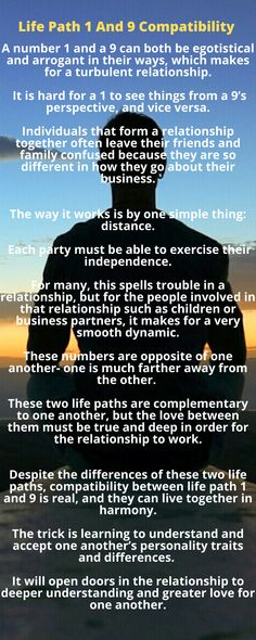 Despite the differences between these two life paths, compatibility between life path 1 and 9 is real, and they can live together in harmony.  The trick is learning to understand and accept one another's personality traits and differences.   The key to success between a 1 and a 9 is to show respect and understanding toward each other's personalities.   Patience with one another and open lines of communication will ensure this relationship lasts a long time. Harmony Life, Love Compatibility, Thing 1, Secrets Revealed, Need Someone, Ask For Help, Numerology, Second Life, Patience
