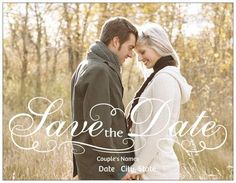 Save the date idea very elegant and romantic