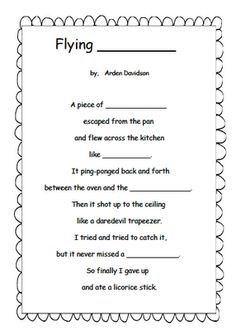 Using poetry to teach inferences - FREE printable