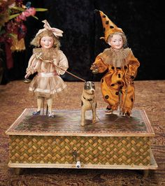 "German Handwind Musical Toy ""Children at the Party"" by Zinner & Sohne 1600/2100"