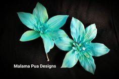 Robin's Egg blue Hair pin hair accessory Bridal hair by MalamaPua