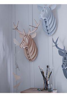 3D laser cut Deer heads from Cox & Cox