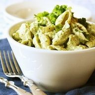"Little Mermaid: Pesto Shell Pasta ""Seashells w/ Seaweed"""