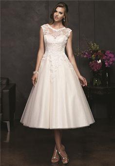 perfect length and shape for tea length wedding dress