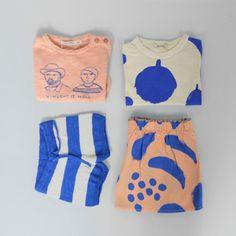 Bobo Choses - Blue stripes knitted shorts