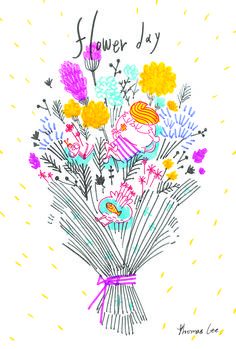 [mining artist] 토마쓰리 Thomas lee #artist #illustrator #illustration #illust #graphic #design #art #드라이플라워 #엽서 #마이닝웍스 #flower