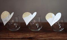 Wine glass place cards | girls night |