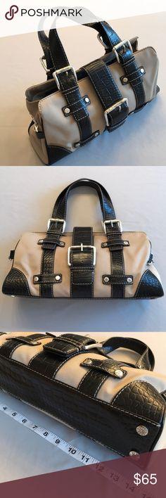 b3a588f8e6 MICHAEL Michael KORS Shoulder Bag 🚫Trade 🚫Model Tan and black croc  embossed leather handbag