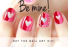 ❤ ❤ ❤ this nail art design for valentines day. I am so getting this for my date night!