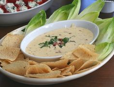 Use GF bacon & tortilla chips! Smoky Bacon Cheddar Dip:  Appetizers in the Kitchen