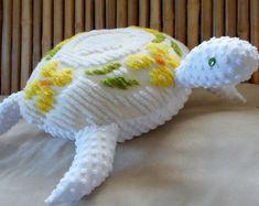 Nautical pillows sea life plushies novelty by Fleeceofnature Nautical Baby Nursery, Nautical Pillows, Nautical Home, Diy Pillows, Chenille, Seahorse Decor, Alpaca Toy, Baby Sea Turtles, Vintage Fabrics