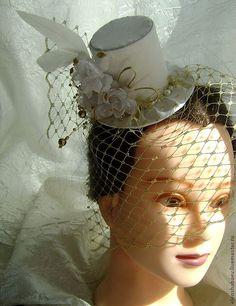 Шляпки с вуалью для девочки 117