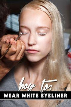 eye makeup white eyeliner - how to wear white