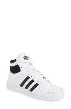 Free shipping and returns on adidas 'Top Ten Hi' Sneaker (Women) at Nordstrom.com. Glossy, honeycomb-embossed leather updates an iconic basketball shoe styled with sporty stripes and a high, soft collar.