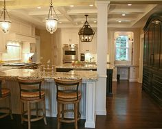 "Kitchens With Columns kitchen photos ""support column"" design, pictures, remodel, decor"
