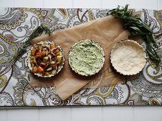 mini veggie tartletts ~ spinach tofu ricotta