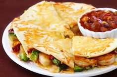 You will love this Parmesan-Crusted Shrimp Quesadillas recipe. Such a flavorful way to enjoy one of your favorite traditional Mexican foods.