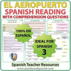 Printables Spanish Reading Comprehension Worksheets reading comprehension worksheets and spanish passage about airports with questions