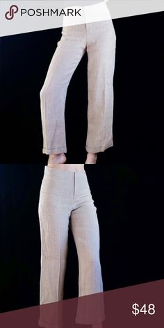 c5c1794c071c Beige linen wide leg trousers Beautiful high waisted beige   tan 100% linen  trousers from
