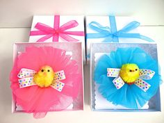Children's Easter hair accessory Easter bow with chenille chick Toddler hair clip Pink Easter bow with polka dot ribbon Little girl hair bow