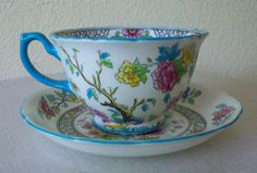 Vintage Hammersley and Co.Cup and Saucer Floral Bone China #Hammersley