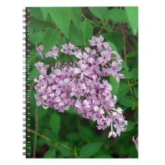Purple Outdoor Flower Bush Spiral Notebooks