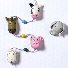 Polymer Clay Animals - great idea for a mobile or some unusual kids jewellery.