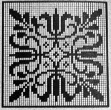 """This would be a cool double knit hotpad. Pattern from """"Norwegian Knitting Designs"""" a wealth of wonderful Norwegian knitting patterns, first published in the mid compiled by Annichen Sibbern Bohn Knitting Charts, Knitting Stitches, Hand Knitting, Knitting Patterns, Cross Stitch Love, Cross Stitch Charts, Cross Stitch Patterns, Crochet Diagram, Crochet Chart"""