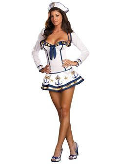 Women's Sexy Sailor Costume for Halloween???