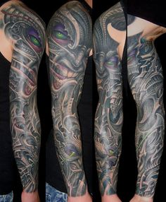 Most inventive and crazy biomechanical tattoos