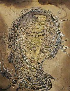 Tête raphaëlesque éclatée, par Salvador Dali