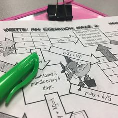 9 Awesome Activities for Writing Equations in Slope Intercept Form - Idea Galaxy Teaching Humor, Teaching History, Teaching Math, Math Teacher, Teacher Stuff, Teaching Resources, Teaching Ideas, Graphing Activities, Classroom Activities