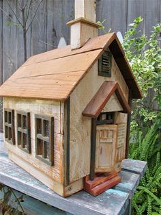 Vintage Wood Church House OOAK Dollhouse by UnderTheSycamores