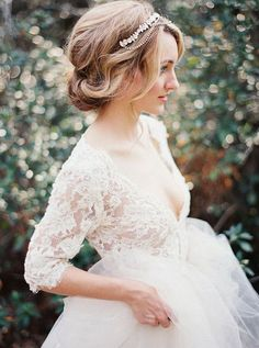 20 Elegant Wedding Hairstyles with Exquisite Headpieces | http://www.tulleandchantilly.com/blog/20-elegant-wedding-hairstyles-with-exquisite-headpieces/