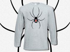 T-shirt Men Long Sleeve Spider Heart  T-shirt Men by KLogShirts