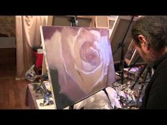 "Process of creating oil painting. Yesterday's roses. ""Вчерашние розы"" живопись маслом Alla Prima - YouTube"