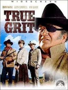 Directed by	Henry Hathaway  Produced by	Hal B. Wallis  Written by	Marguerite Roberts  Based on	True Grit by  Charles Portis  Starring	John Wayne  Glen Campbell  Kim Darby  Robert Duvall  Jeff Corey  Dennis Hopper  Strother Martin  John Fiedler  Music by	Elmer Bernstein  Release date(s)	June 11, 1969