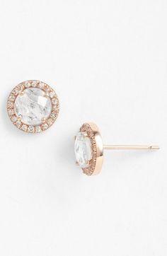 KALAN by Suzanne Kalan Round Sapphire Bezel Earrings | Nordstrom