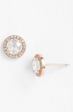 KALAN by Suzanne Kalan Round Sapphire Bezel Earrings available at #Nordstrom