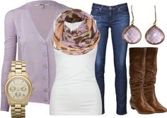 """""""Lilac & Leather"""" by qtpiekelso on Polyvore"""