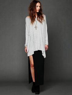 Free People Big Dipper Oversized Tee, Perfect for Layering into Winter