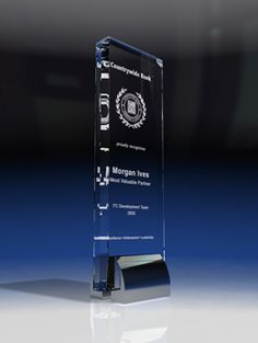 The Skyline award is modern and sophisticated, featuring a tall brilliant quality crystal displayed on a chrome base. Choose from two sizes. Glass Awards, Crystal Awards, Looking For Employees, Glass Trophies, Corporate Awards, Trophy Design, Recognition Awards, Photo Studio, Polished Chrome