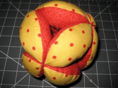 Fat Quarter Friday: Amish Puzzle Ball – Baby Toy   Awaiting Ada